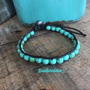 💕Turquoise Tone Beaded Bracelet 💕
